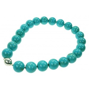 Bamboekoraal Collier - Turquoise - lengte 43 / 45 cm